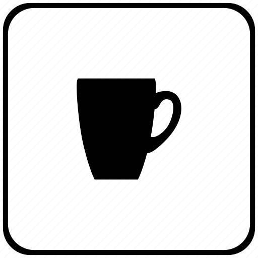 cafe, cup, drink, rounded, square, tea icon