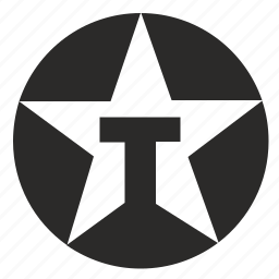 brand, identity, logo, logotype, round, star, texaco icon