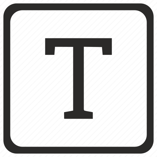 alphabet, letter, t, uppercase icon