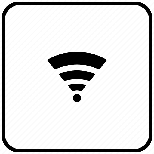 access, border, internet, rounded, square, wifi icon
