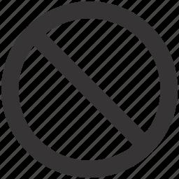 delete, forbidden, no, remove, stop icon