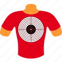 body, clothes, mannequin, shirt, sport, t-shirt, target icon