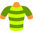 body, clothes, mannequin, shirt, sport, striped, t-shirt icon
