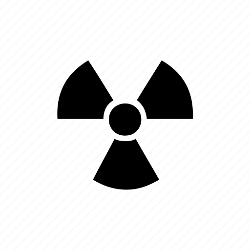 atomic, danger, hanger, nuclear, radiation, radioactive, science icon