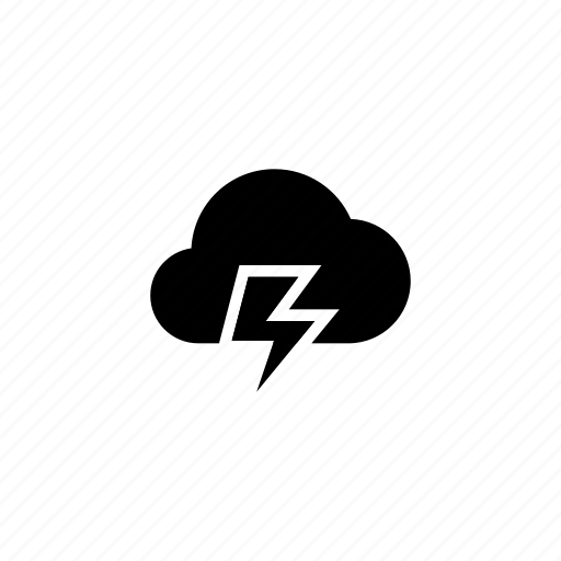 cloud, clouds, cloudy, forecast, storm, thunder, weather icon