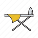 board, iron, ironing, laundry, press-iron, sheet, smoothing icon