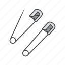 needle, pin, safety, sewing, tailor, tailoring, tool icon