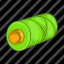 bobbin, cartoon, coil, sewing, spool, style, thread icon