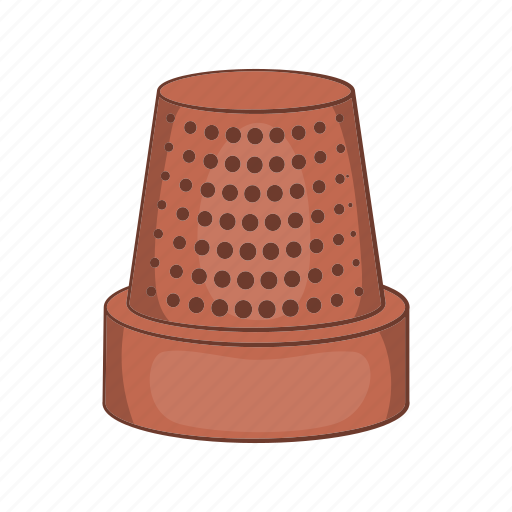 cartoon, clothing, metal, sewing, style, tailor, thimble icon