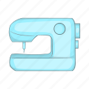 cartoon, craft, industry, machine, sewing, textile, tool icon