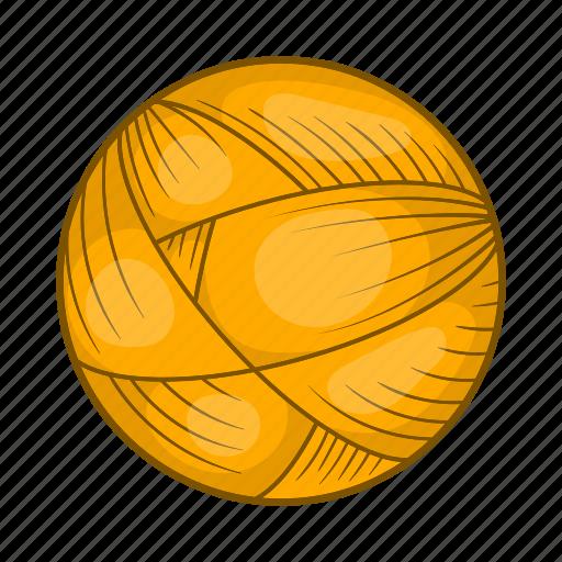ball, cartoon, craft, knitting, style, wool, yarn icon