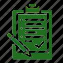 checklist, document, information, list, note, schedule icon