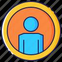 account, background, circle, internet, man, person, profile