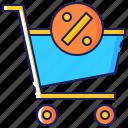 cart, celebration, discount, friday, promotion, sale, shopping