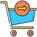 business, checkout, customer, payment, purchase, retail, store icon
