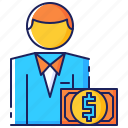 business, client, corporate, cost, customer, finance, money icon