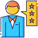 customer, evaluation, feedback, quality, rating, review, satisfaction icon