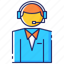 business, customer, headset, help, operator, service, support icon