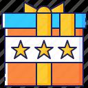 box, gift, loyalty, present, program, promotion, stars