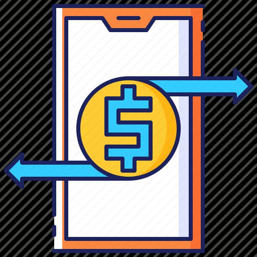 Banking, finance, funds, money, online, smartphone, transfer icon - Download on Iconfinder