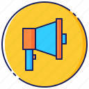 advertising, business, marketing, megaphone, promotion, sale, speaker icon