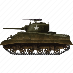 army, miltiary, sherman, tank, vehicle, war icon