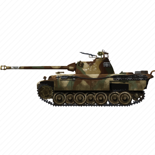 army, miltiary, panther, tank, vehicle, war icon