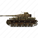 army, miltiary, panzer, tank, vehicle, war icon