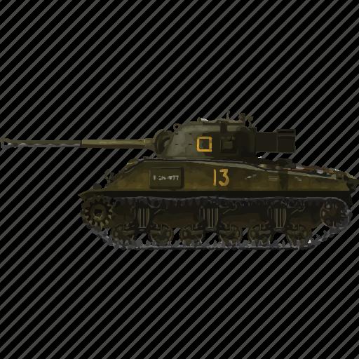 army, firefly, miltiary, sherman, tank, vehicle, war icon