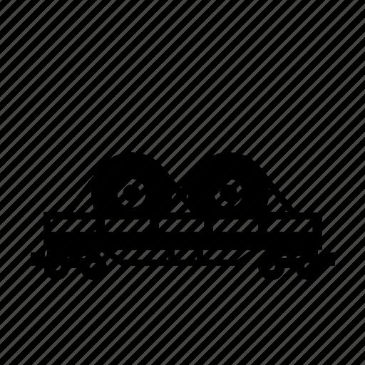 car, cargo, dump, rail, train, transport icon