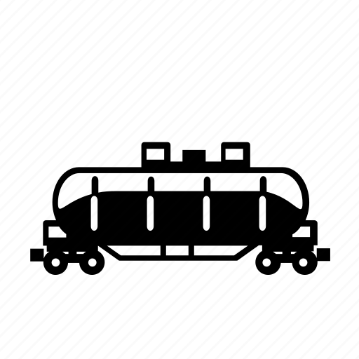 car, fuel, gas, rail, tank, train, transport icon