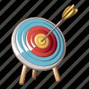 accurate, aim, archery, bullseye, cartoon, goal, target