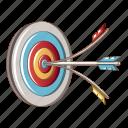 accuracy, aim, arrow, cartoon, head, shot, target icon