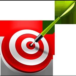 bullseye, dart, target icon