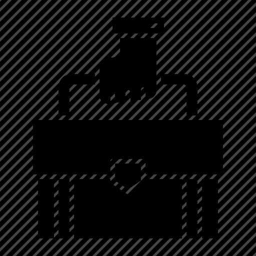 bag, briefcase, business, portfolio, suitcase, tracel icon