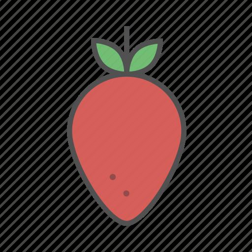 berry, fresh, fruit, fun, strawberry, summer, vegan icon