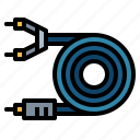cable, cord, electronics, plug icon