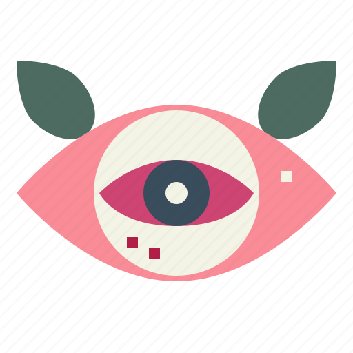 eye, hipster, old, school, tattoo icon