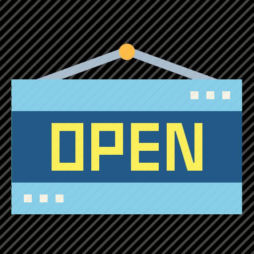entry, open, shop, signal icon
