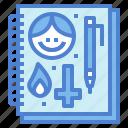 agenda, art, notebook, sketchbook icon