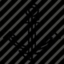 anchor, beach, boat, ocean, sea, ship, water