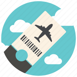 airplane, airport, flight, plane, ticket, transport, travel icon