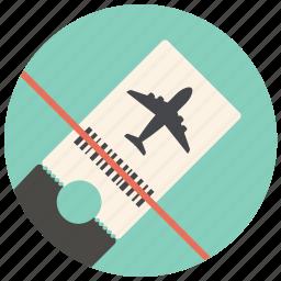 airplane, airplane ticket, airport, flight, plane, ticket, travel icon