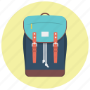 backpack, bag, baggage, hiking, travel, traveling, treking icon