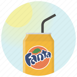 beverage, can, drink, fanta, orange, soda, sun icon