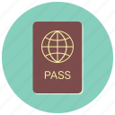 document, id, identification, pass, passport, travel, visa icon