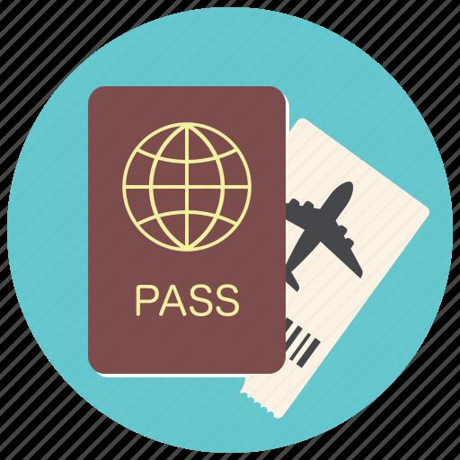 document, flight, id, passport, ticket, travel, traveling icon