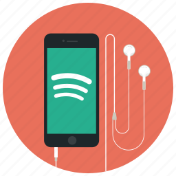 audio, iphone, music, phone, player, song, spotify icon