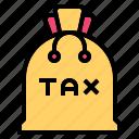 bag, tax, business, finance, dollar, cash, money