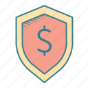 bank, defense, financial, protection, secure, security, shield, taxes icon